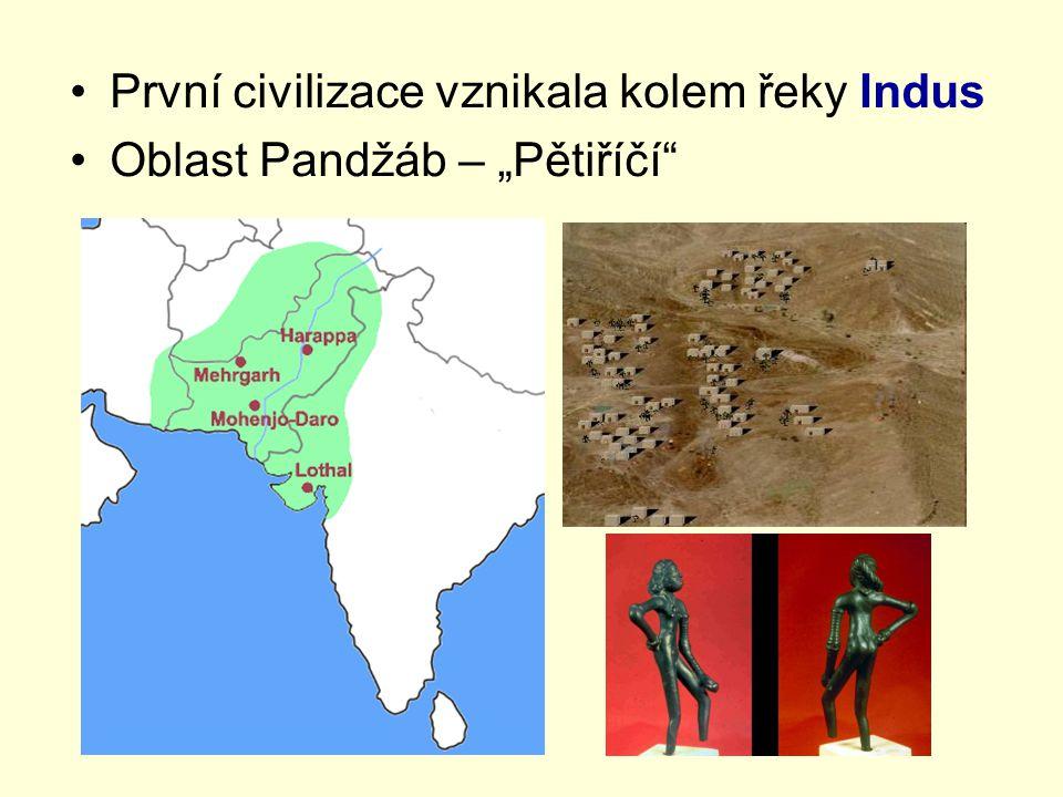 """První civilizace vznikala kolem řeky Indus Oblast Pandžáb – """"Pětiříčí"""""""
