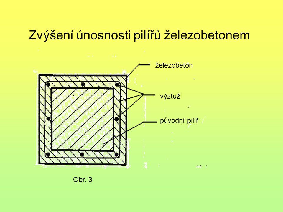 Zvýšení únosnosti pilířů ocelovou konstrukcí a obetonováním Obr.