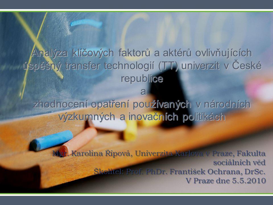 Byly identifikovány tři modely úspěšné spolupráce mezi akademickými a průmyslovými partnery: 1.