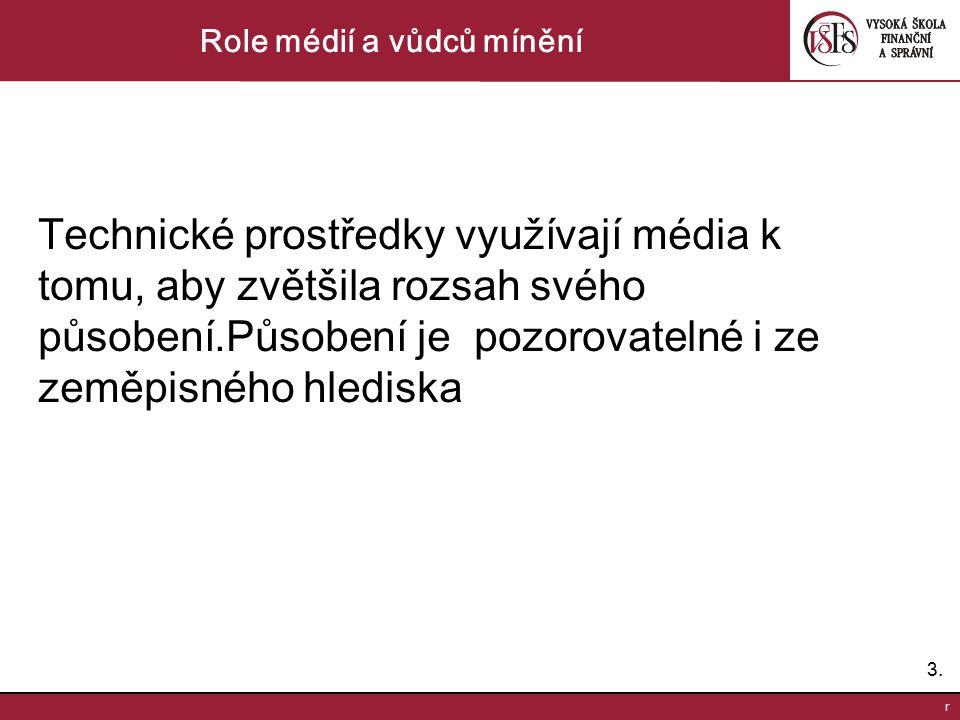 14.r Role médií a vůdců mínění Názoroví vůdci a utvážení stranické loajality.
