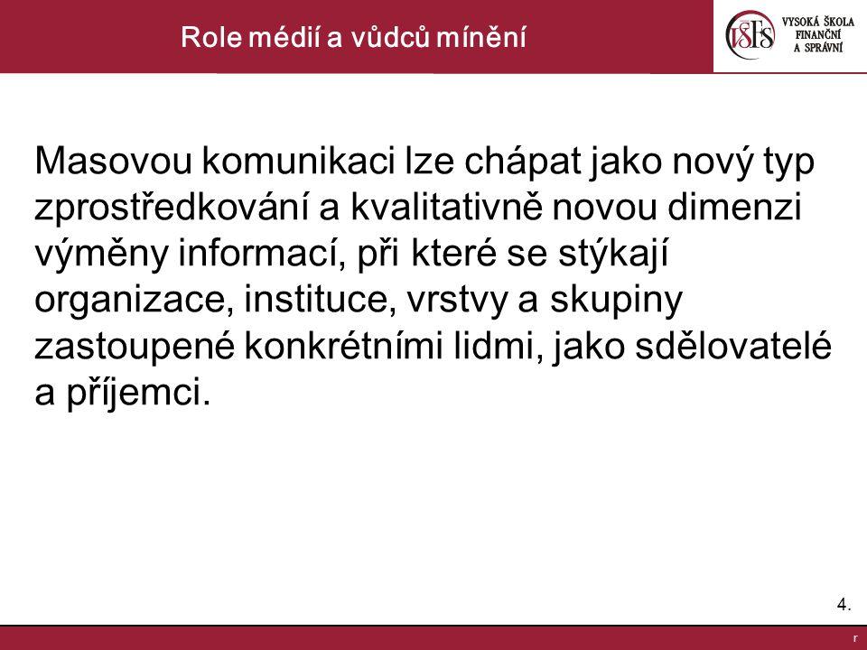 5.5.r Role médií a vůdců mínění D.