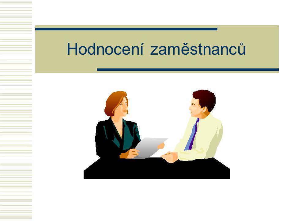  Základní principy hodnocení zaměstnanců  Cíle hodnocení  Výstupy z hodnocení  Metody a techniky hodnocení  Vedení hodnotícího pohovoru