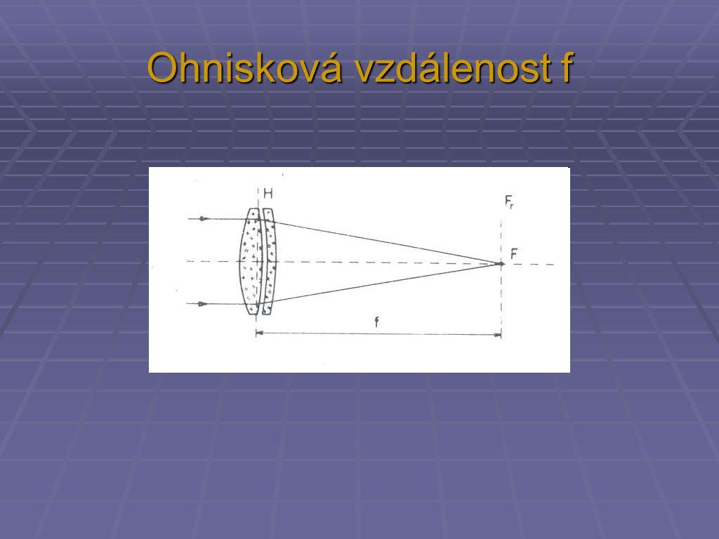 Ohnisková vzdálenost f
