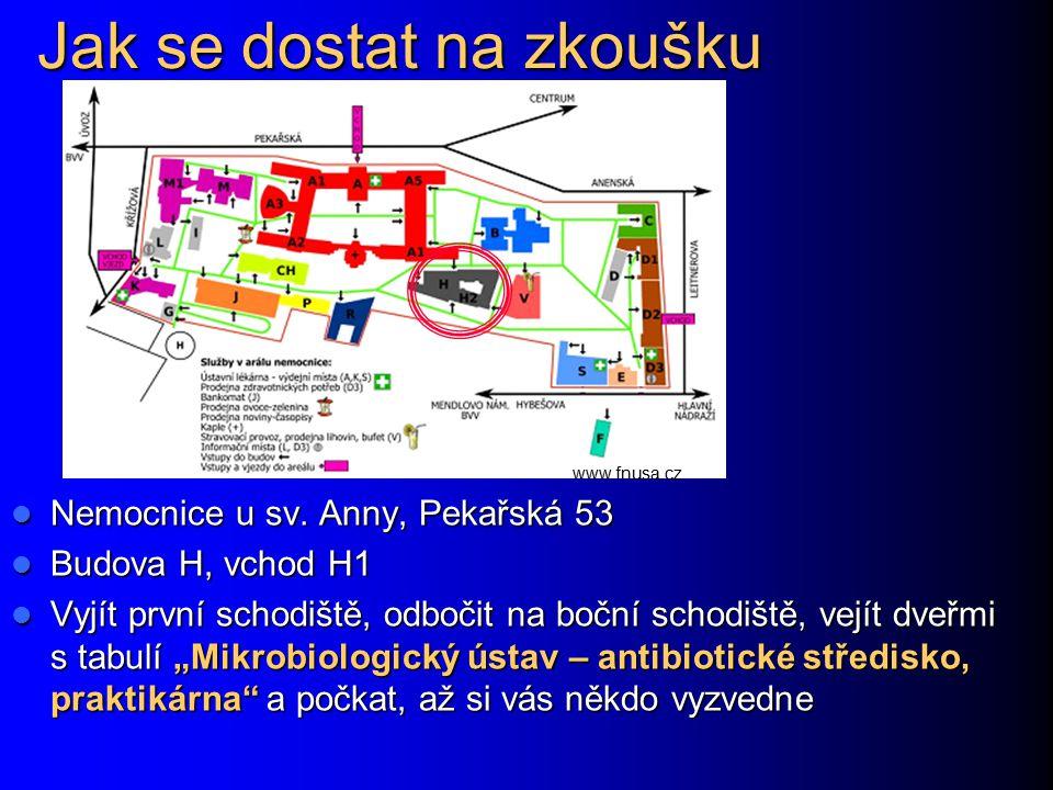 Jak se dostat na zkoušku Nemocnice u sv. Anny, Pekařská 53 Nemocnice u sv. Anny, Pekařská 53 Budova H, vchod H1 Budova H, vchod H1 Vyjít první schodiš