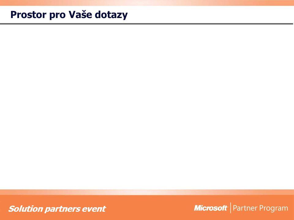 Solution partners event Prostor pro Vaše dotazy