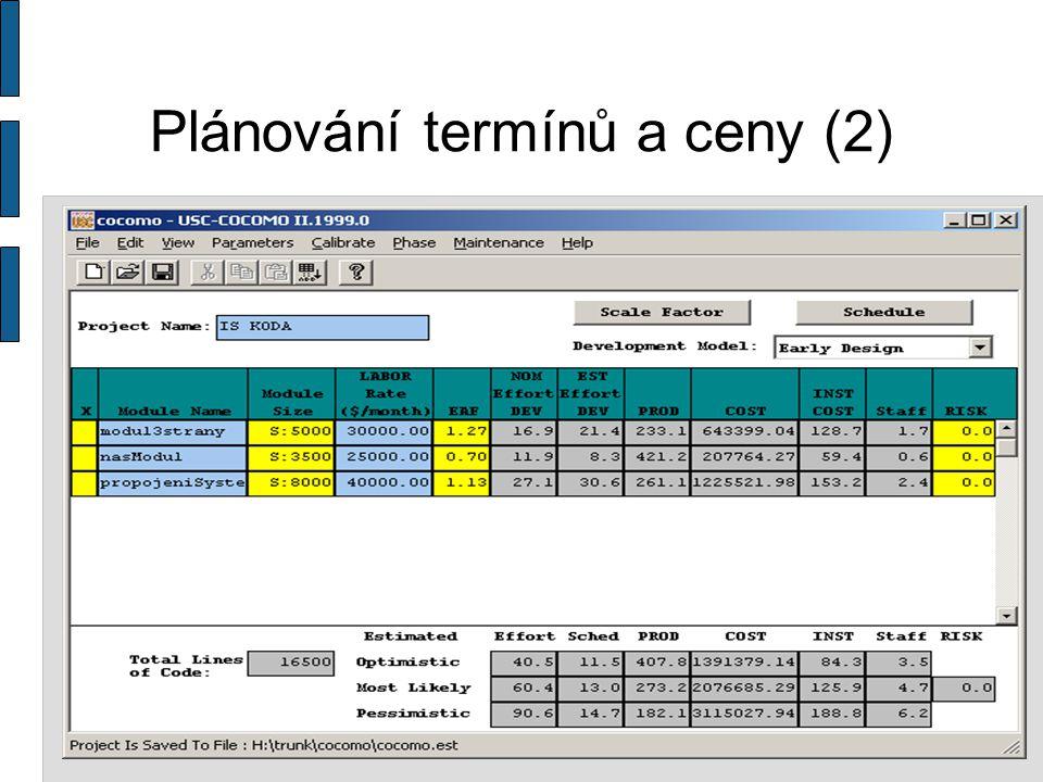 Kvalita Testy- unit testy, black box Inspekce Metriky  Počet řádků / ČD  Method Hiding Factor  Cyklomatická Standarty  ISO 9001 - Systémy managementu akosti  ISO 27 001 – Systém řízení bezpečnosti informací  CMM úrovně 2