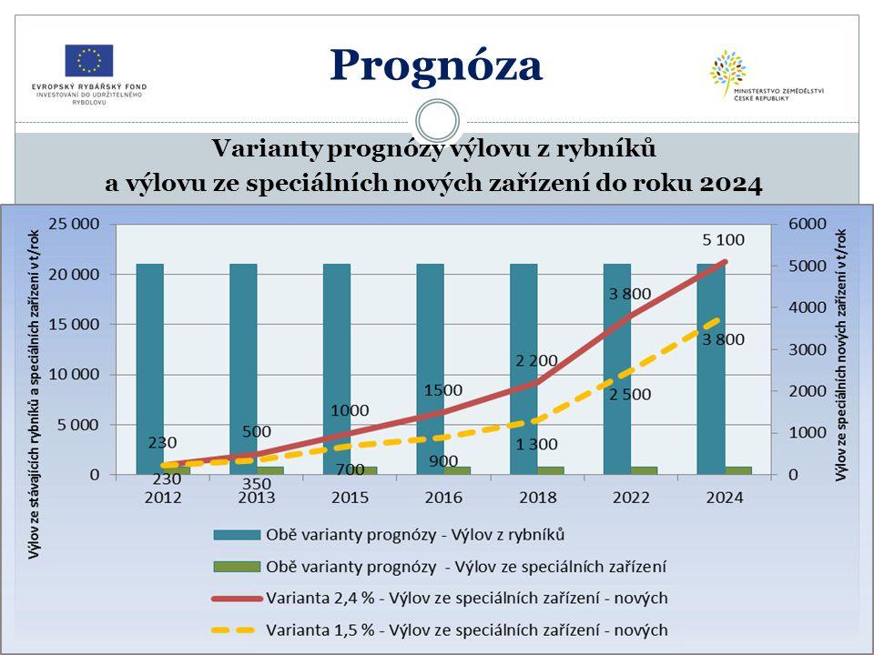 Prognóza Prognóza vývoje zpracování ryb do vnitřního trhu a na vývoz (ž.h.) do roku 2024