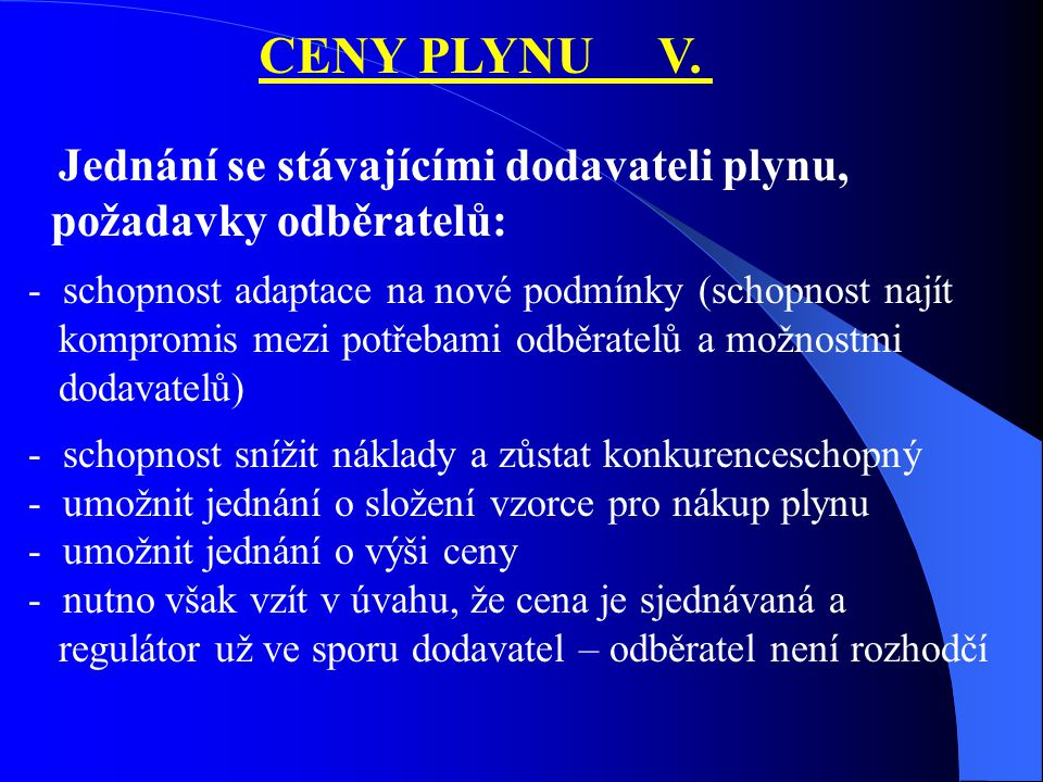 CENY PLYNU V.