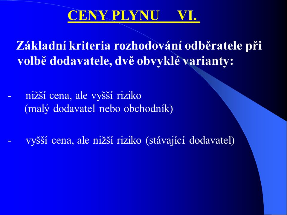CENY PLYNU VI.