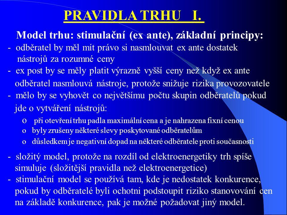 PRAVIDLA TRHU I.