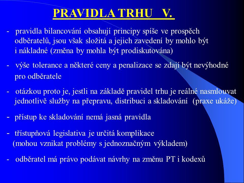 PRAVIDLA TRHU V.