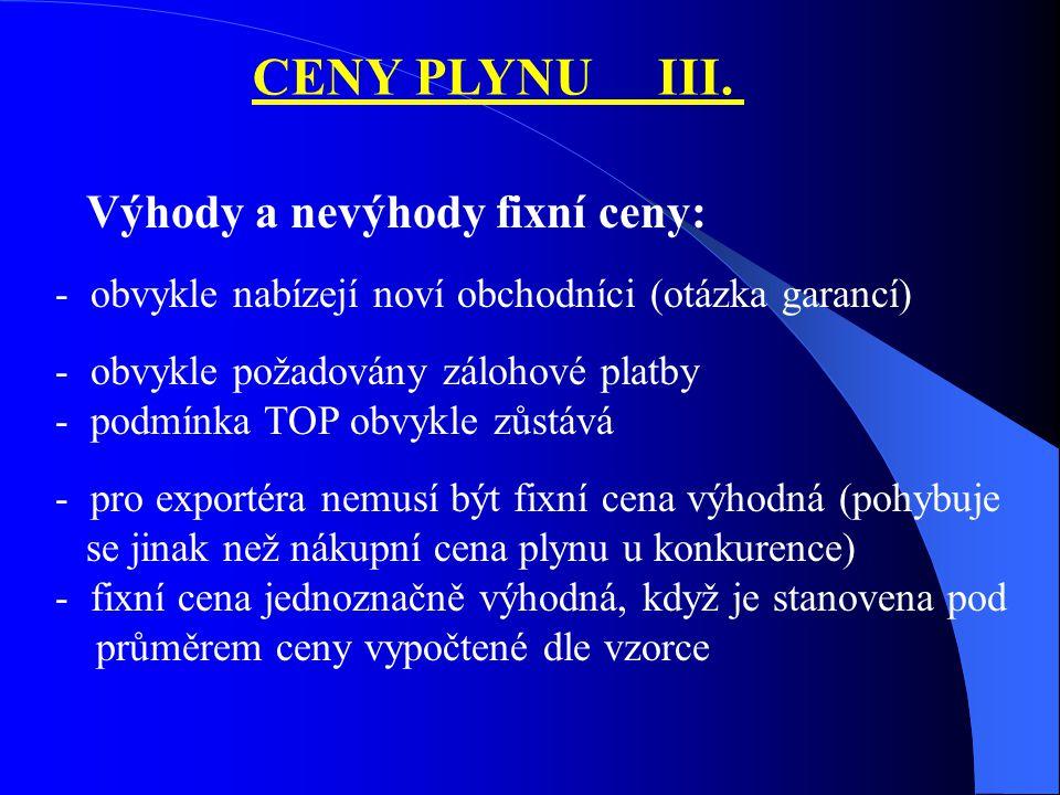 CENY PLYNU III.