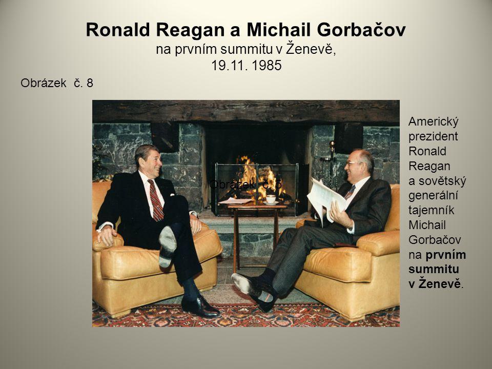 Ronald Reagan a Michail Gorbačov na prvním summitu v Ženevě, 19.11.