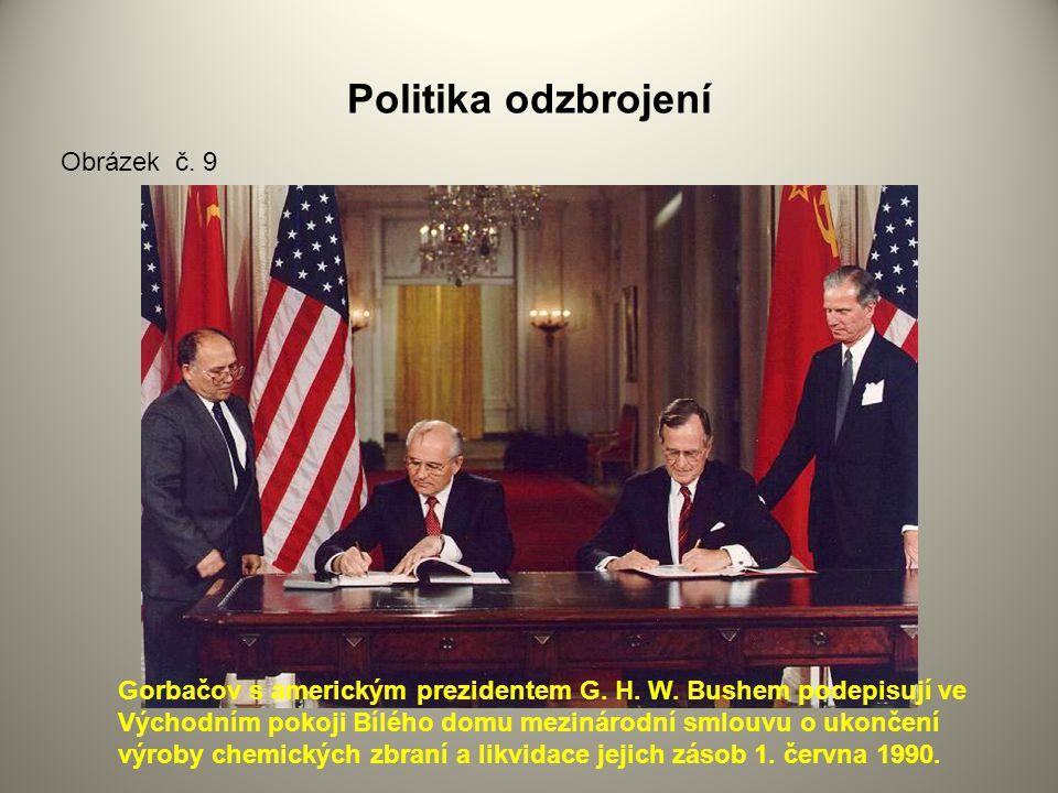 Politika odzbrojení Gorbačov s americkým prezidentem G.