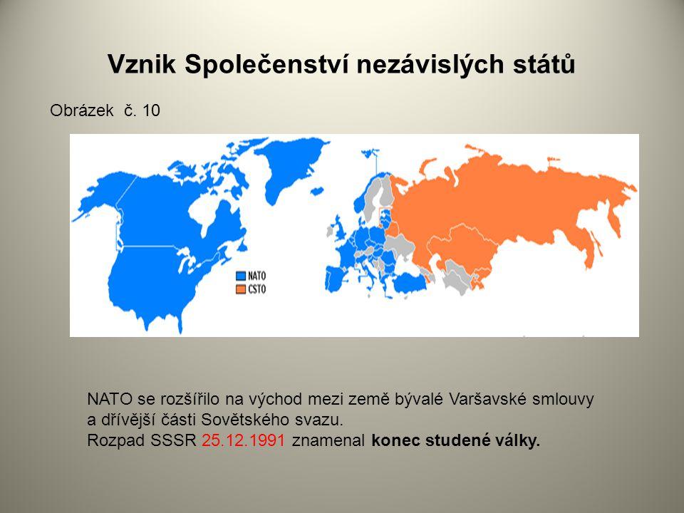 Vznik Společenství nezávislých států NATO se rozšířilo na východ mezi země bývalé Varšavské smlouvy a dřívější části Sovětského svazu.