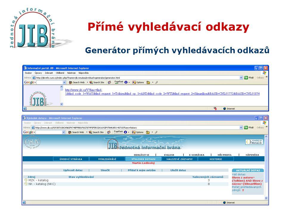 Přímé vyhledávací odkazy Generátor přímých vyhledávacích odkazů