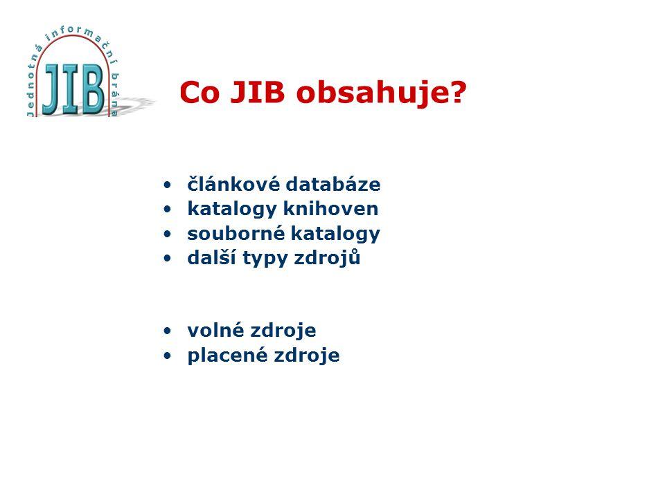 Co JIB obsahuje.