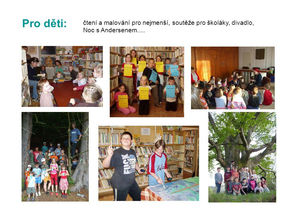 Pro děti: čtení a malování pro nejmenší, soutěže pro školáky, divadlo, Noc s Andersenem….