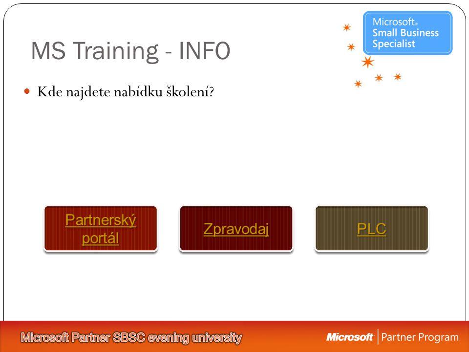 MS Training - INFO Kde najdete nabídku školení