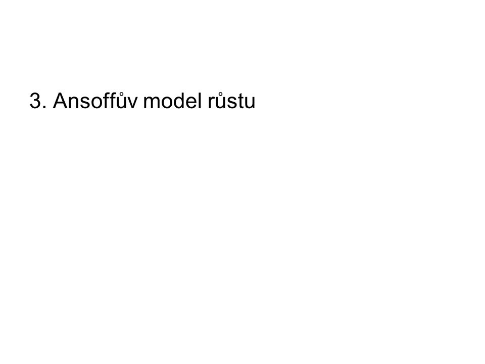 3. Ansoffův model růstu