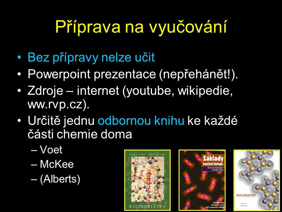 Příprava na vyučování Bez přípravy nelze učit Powerpoint prezentace (nepřehánět!).