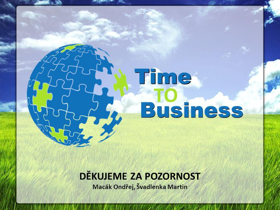 Business Time Business TO DĚKUJEME ZA POZORNOST Macák Ondřej, Švadlenka Martin