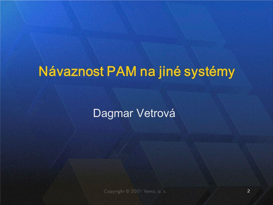 2 Dagmar Vetrová Návaznost PAM na jiné systémy