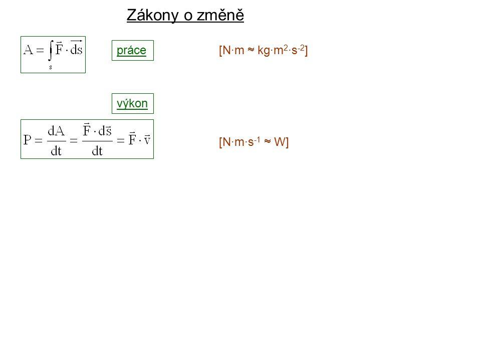 Dynamika I, 2. přednáška výkon [N·m·s -1  W] Zákony o změně práce [N·m  kg·m 2 ·s -2 ]