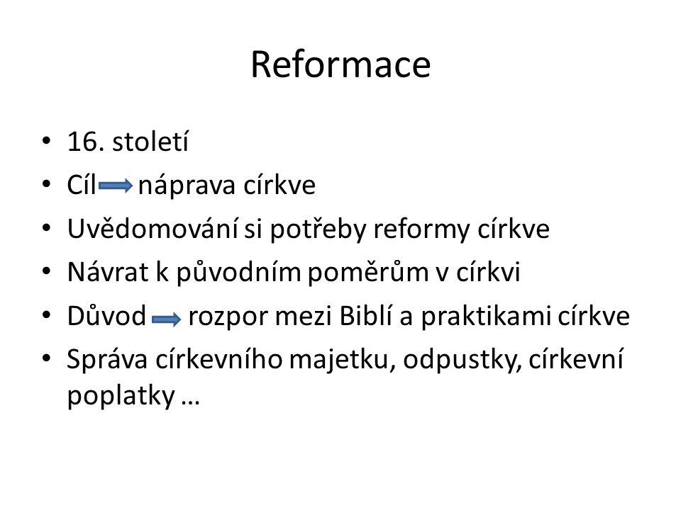 Reformace 16.