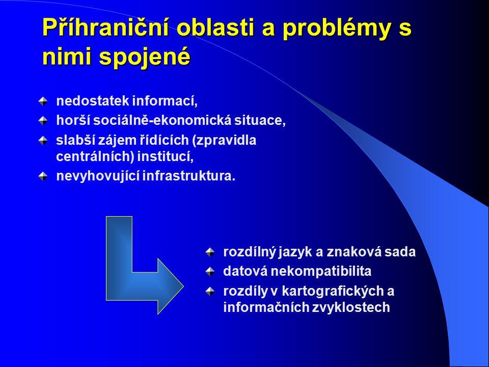 Příhraniční oblasti a problémy s nimi spojené nedostatek informací, horší sociálně-ekonomická situace, slabší zájem řídících (zpravidla centrálních) i