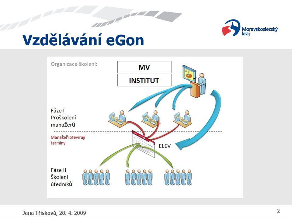 Vzdělávání eGon Jana Třísková, 28. 4. 2009 2