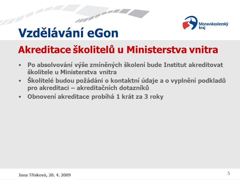 Vzdělávání eGon Jana Třísková, 28. 4.