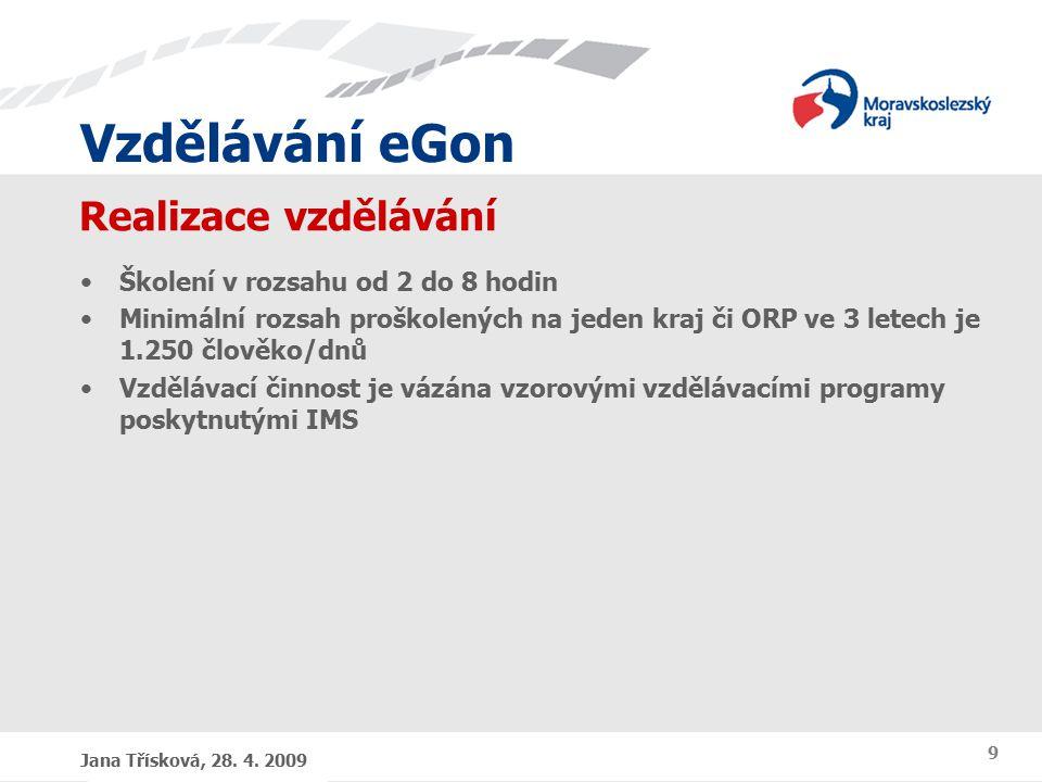 Vzdělávání eGon Dotazy, diskuse Kateřina Haferníková, Jana Třísková 28. 4. 2009