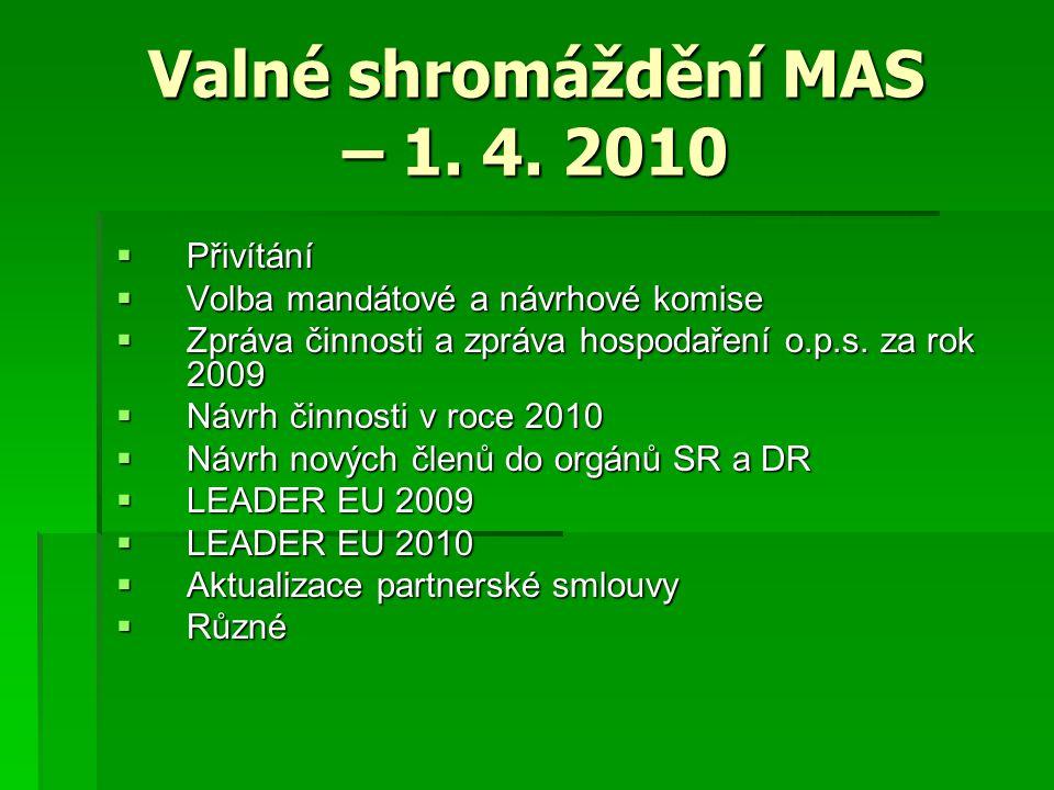 Valné shromáždění MAS – 1. 4.