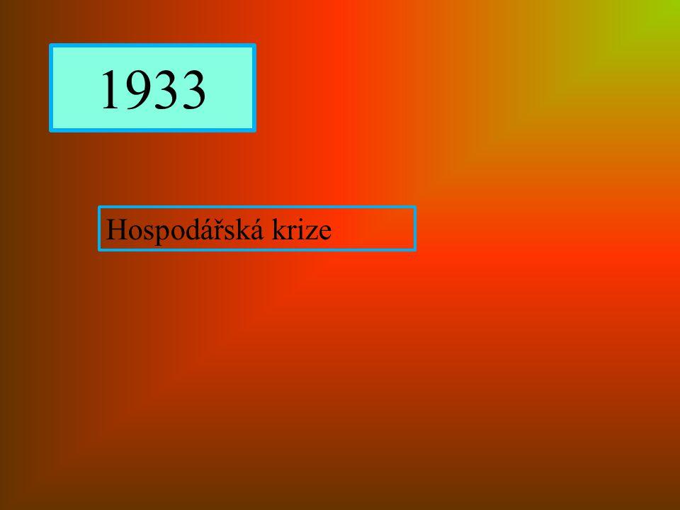 1933 Hospodářská krize