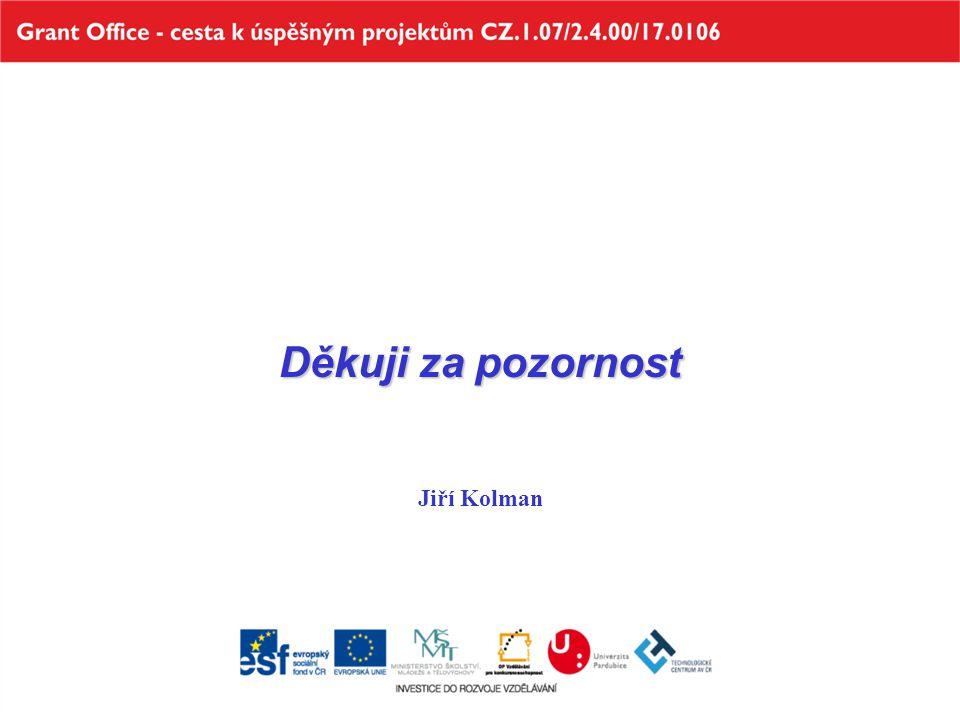 Děkuji za pozornost Jiří Kolman