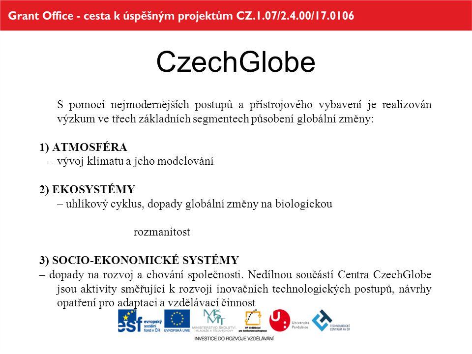 Přehled mezinárodních projektů =) CzechGlobe jako dítě evropských programů 1992 – EPOCH EU 4.