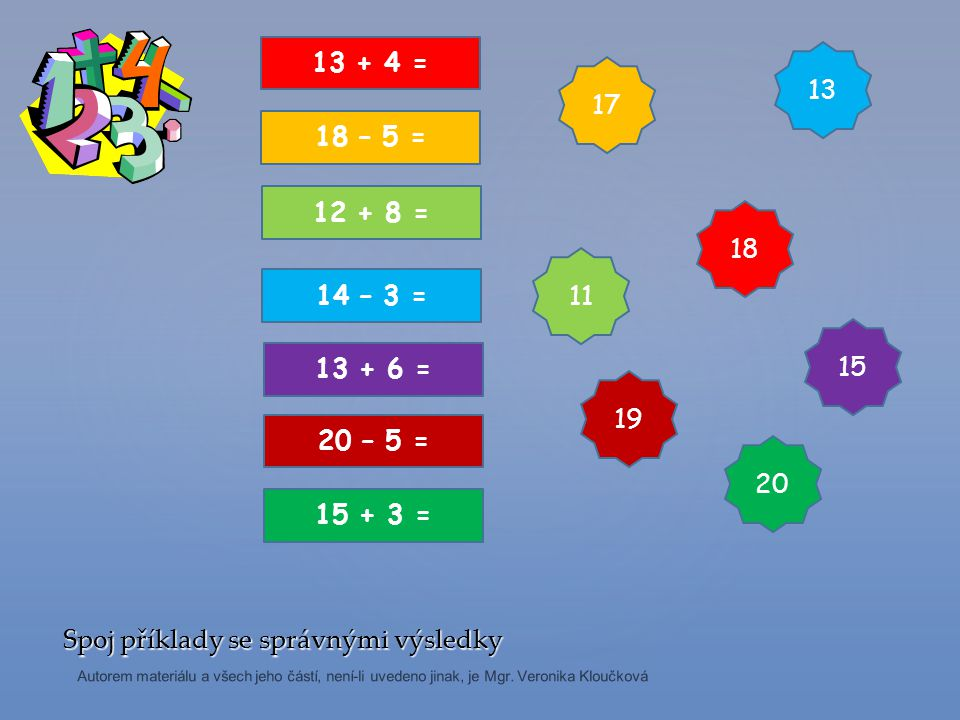 15312521 Vypočítej početní řetězec.