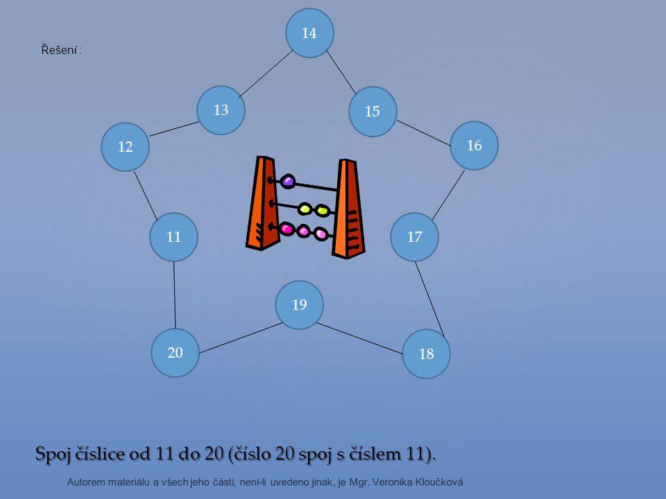 Spoj příklady se správnými výsledky Autorem materiálu a všech jeho částí, není-li uvedeno jinak, je Mgr.