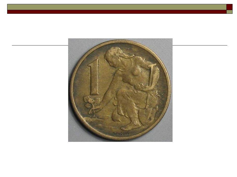 1945  Dekret presidenta republiky 19.10.1945  1.11.1945 – jednotná Kč  1USD = 50Kčs  Výměna 500 Kč v hotovosti/osobu  blokace zbytku hotovosti a vkladů  přepočty plateb a závazků v RM, Pengö  1Kčs=1K=1Ks