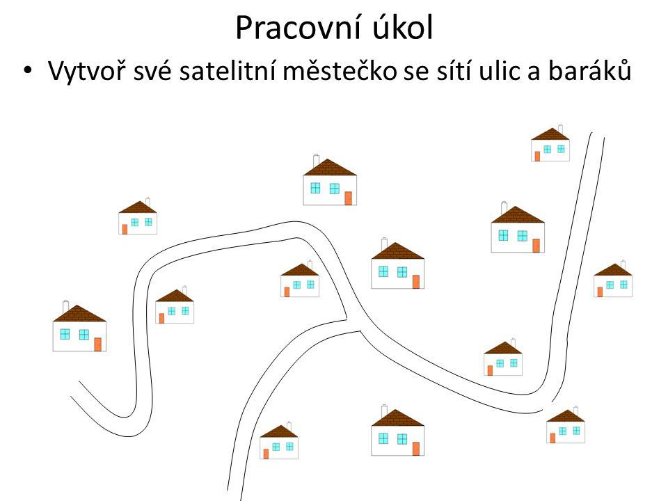 Pracovní úkol Vytvoř své satelitní městečko se sítí ulic a baráků