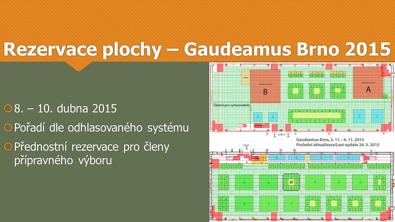 Rezervace plochy – Gaudeamus Brno 2015  8. – 10.