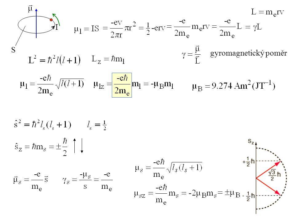 S I gyromagnetický poměr
