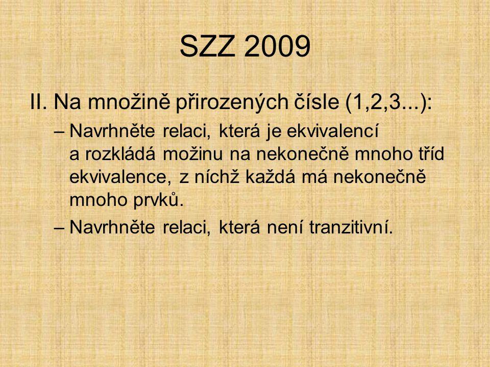 SZZ 2009 I.