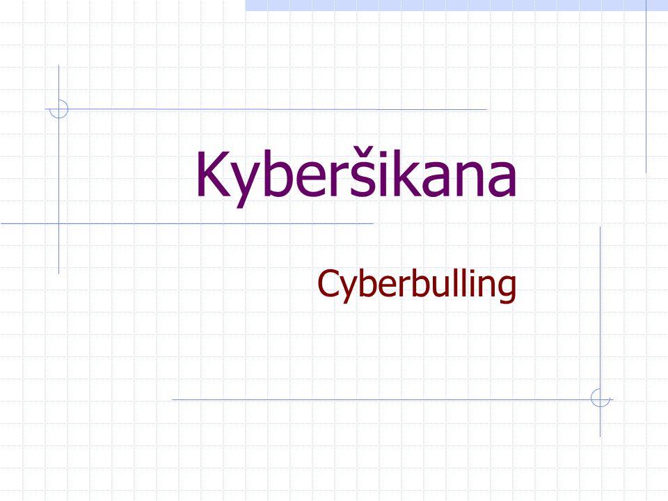Co je to kyberšikana…..Je to úmyslné, nepřátelské chování, které se obvykle opakuje.