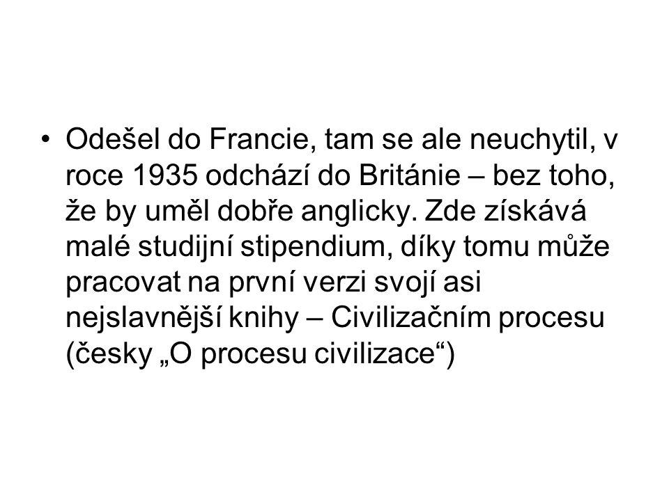 Odešel do Francie, tam se ale neuchytil, v roce 1935 odchází do Británie – bez toho, že by uměl dobře anglicky. Zde získává malé studijní stipendium,