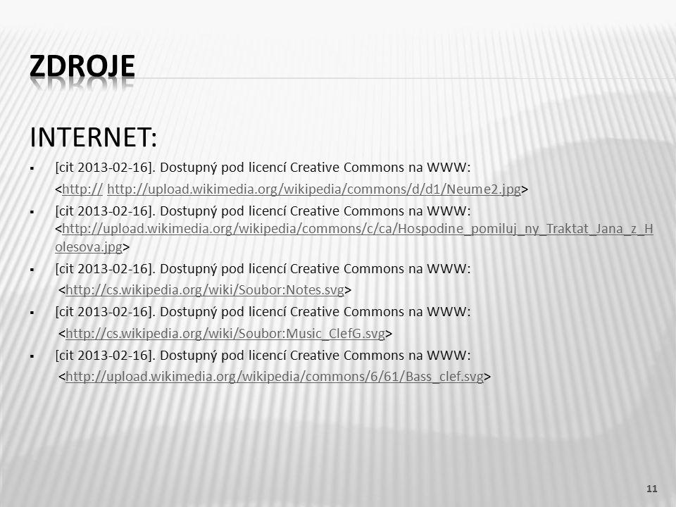 INTERNET:  [cit 2013-02-16]. Dostupný pod licencí Creative Commons na WWW: ˂http:// http://upload.wikimedia.org/wikipedia/commons/d/d1/Neume2.jpg˃htt