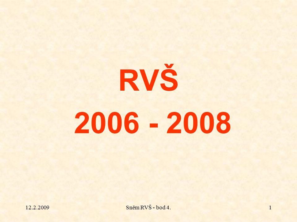 12.2.2009Sněm RVŠ - bod 4.1 RVŠ 2006 - 2008