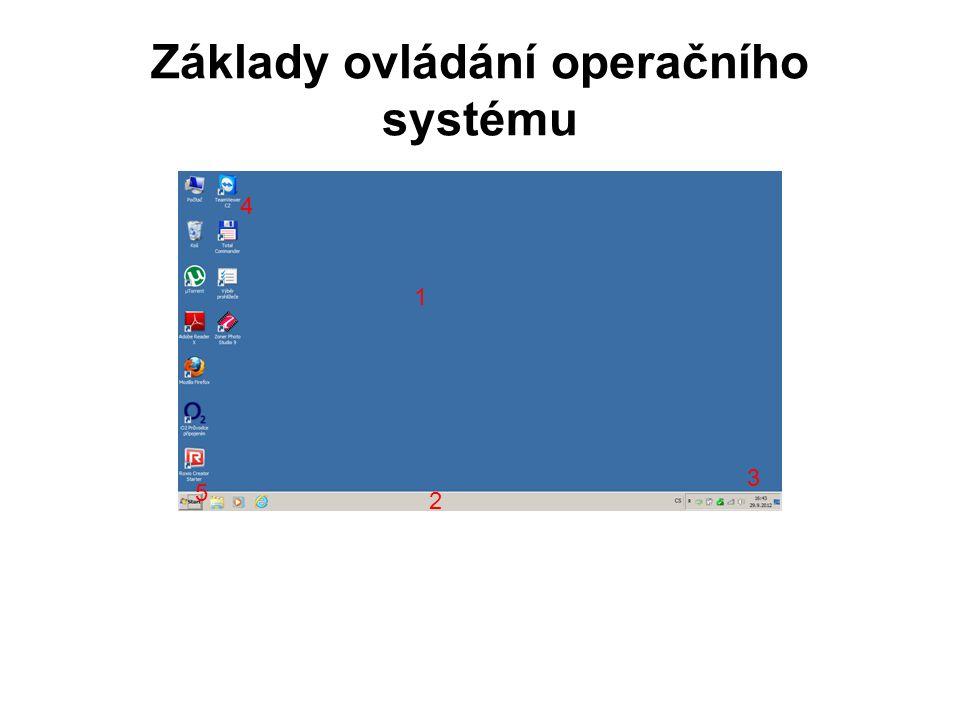 Základy ovládání operačního systému 1 2 3 4 5