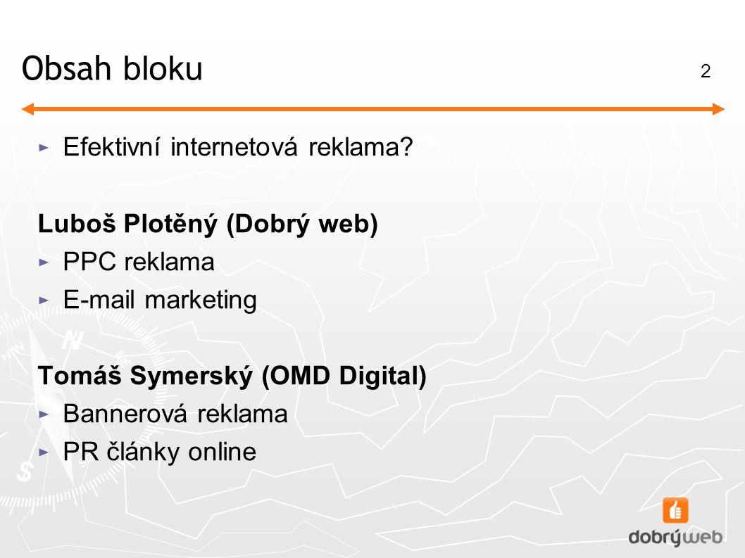 2 Obsah bloku ► Efektivní internetová reklama.